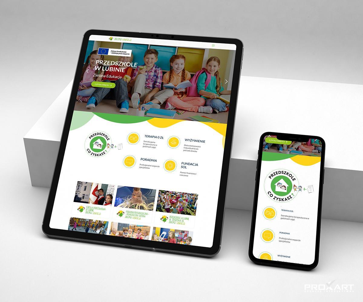 Strona internetowa Zielonej Edukacji