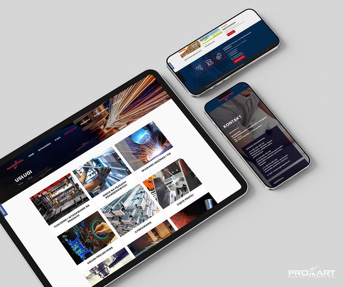 Strona internetowa firmy Magrotex