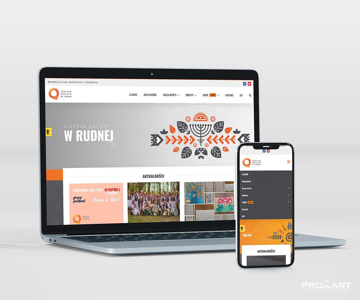 Strona internetowa Centrum Kultury Gminy Rudna